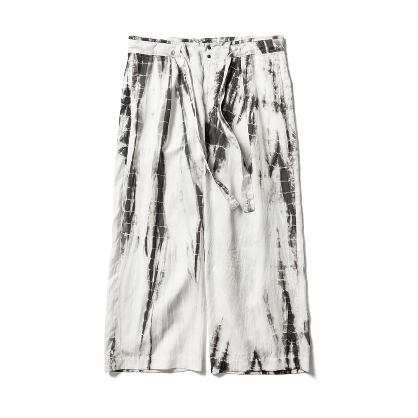 ORIENTAL TIE DYE EASY PANTS WHITE