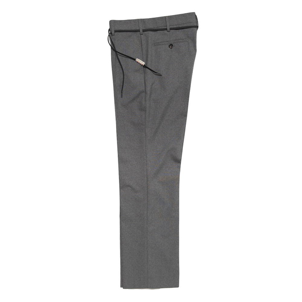 SUMMER WOOL DRAWCORD SLACKS GREY