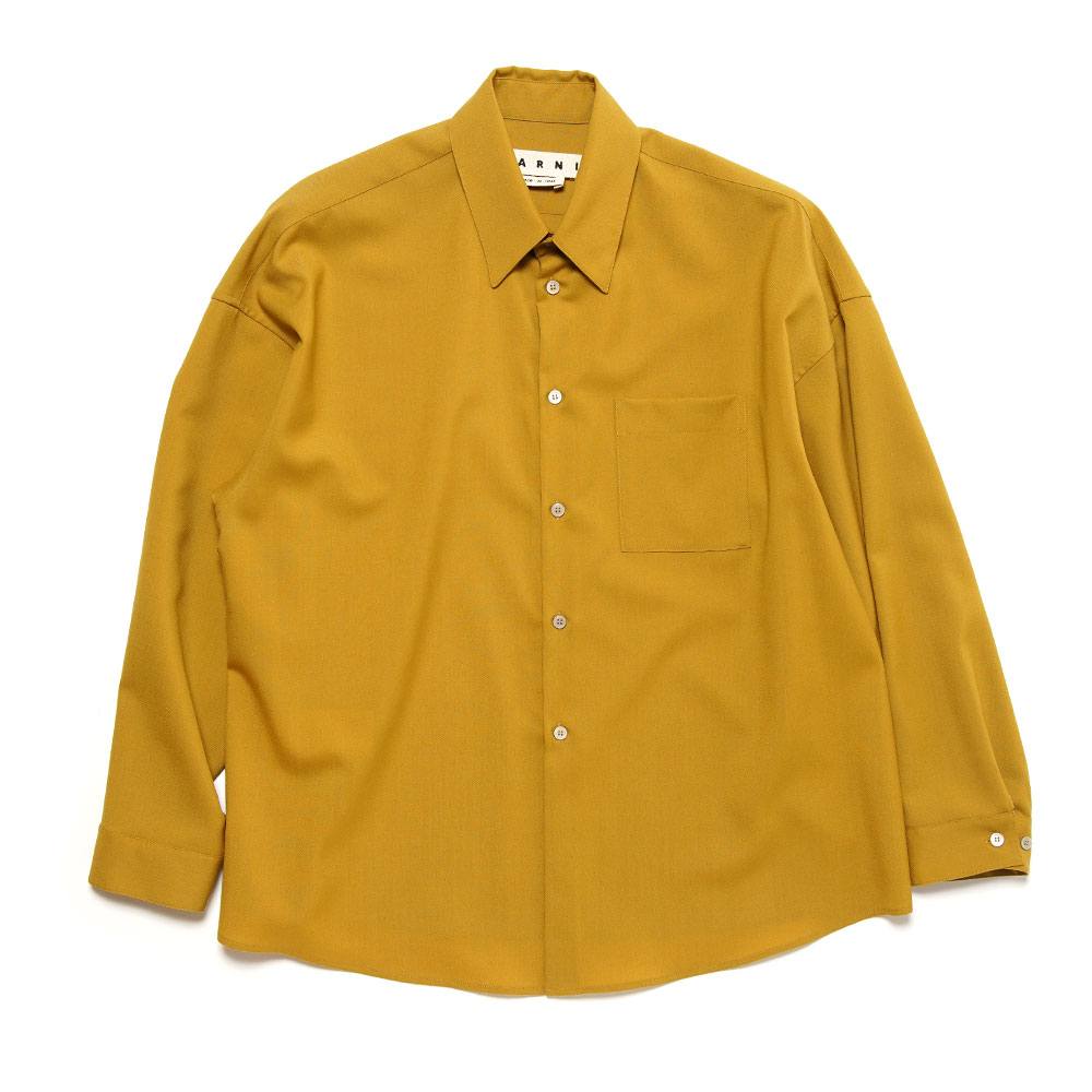 TROPICAL WOOL SHIRT CITRONELLE