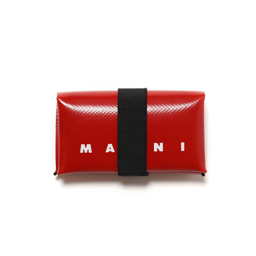 PVC LEATHER ORIGAMI WALLET RED