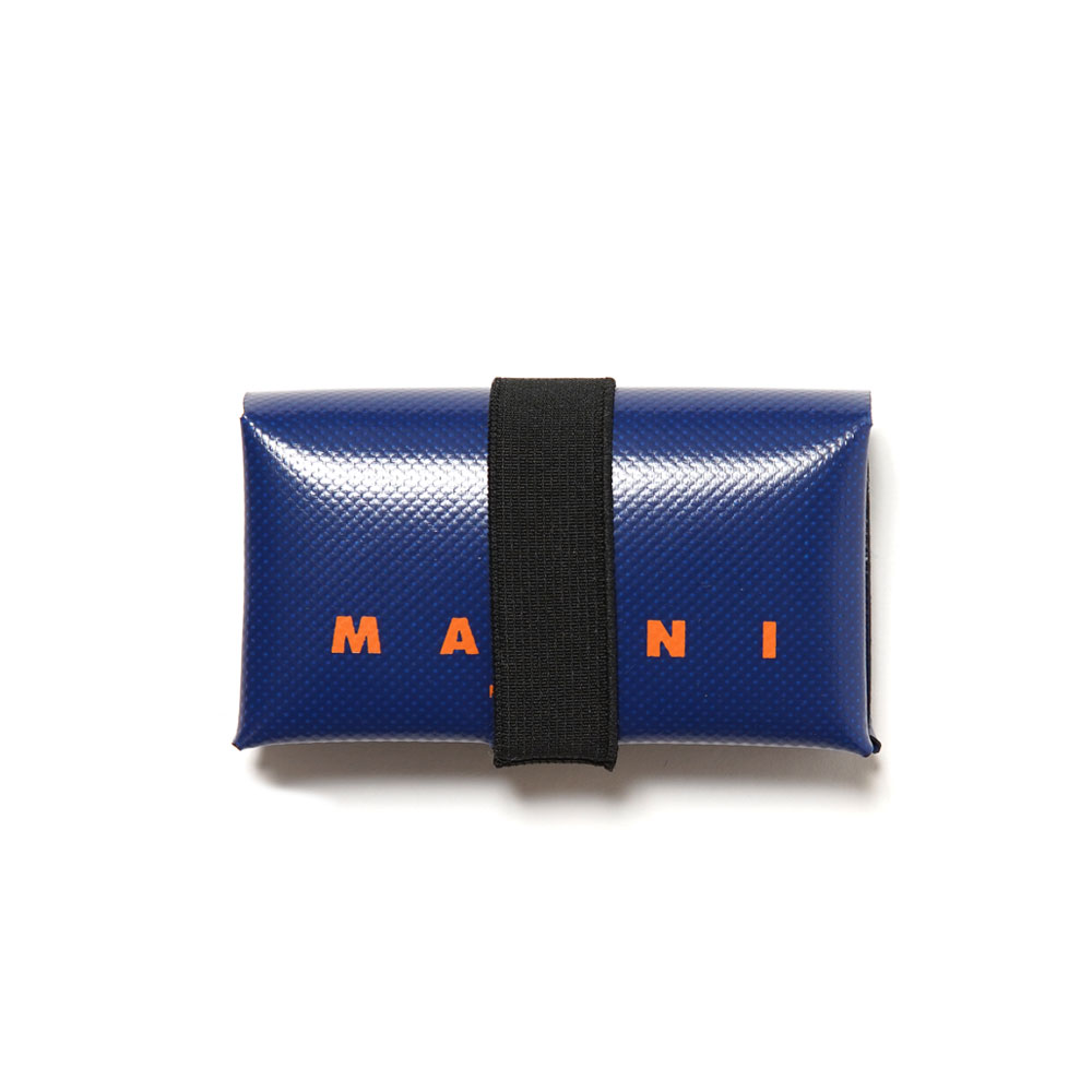 PVC LEATHER ORIGAMI WALLET BLUE