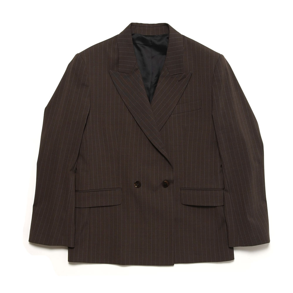 DOUBLE BREASTED BLAZER BROWN