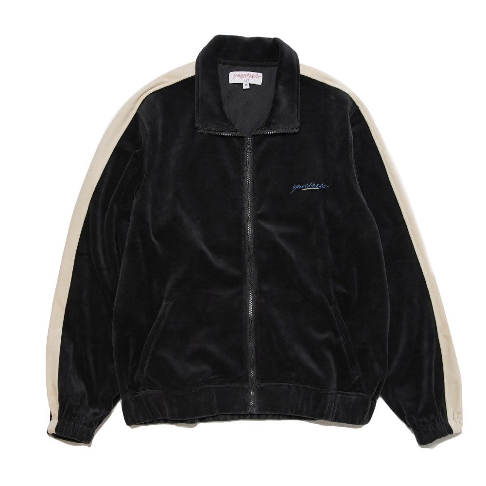 VELOUR TRACK TOP CHARCOAL