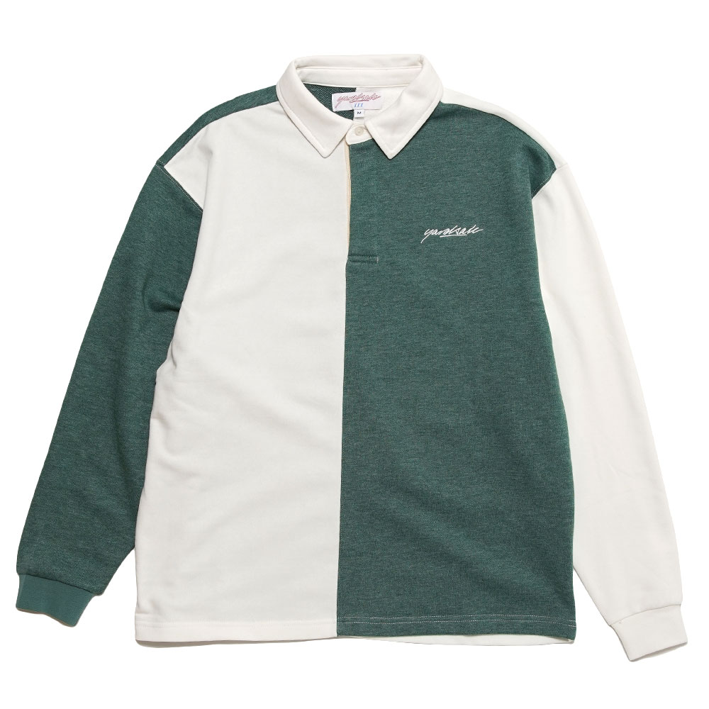 TONIC LONGSLEEVE POLO FOREST/WHITE