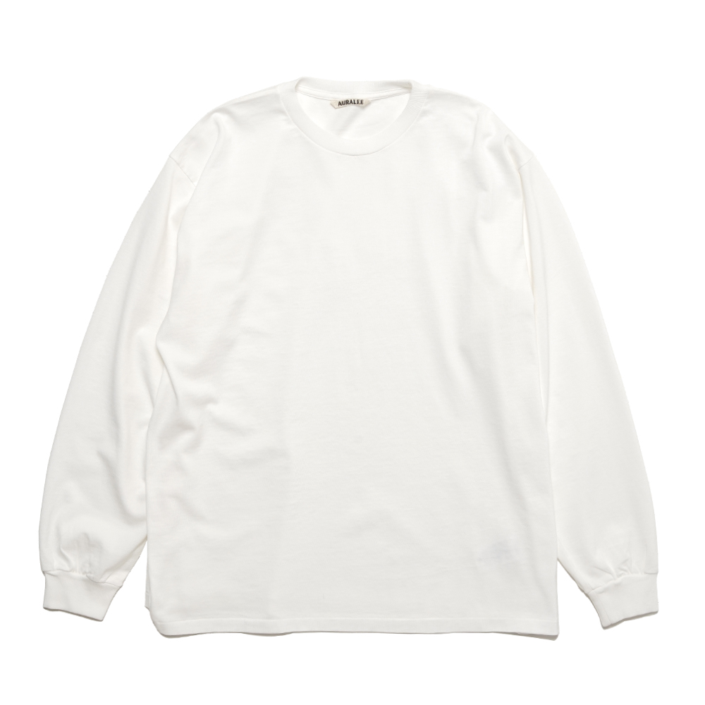 LUSTER PLATTING L/S TEE A00SP01GT WHITE