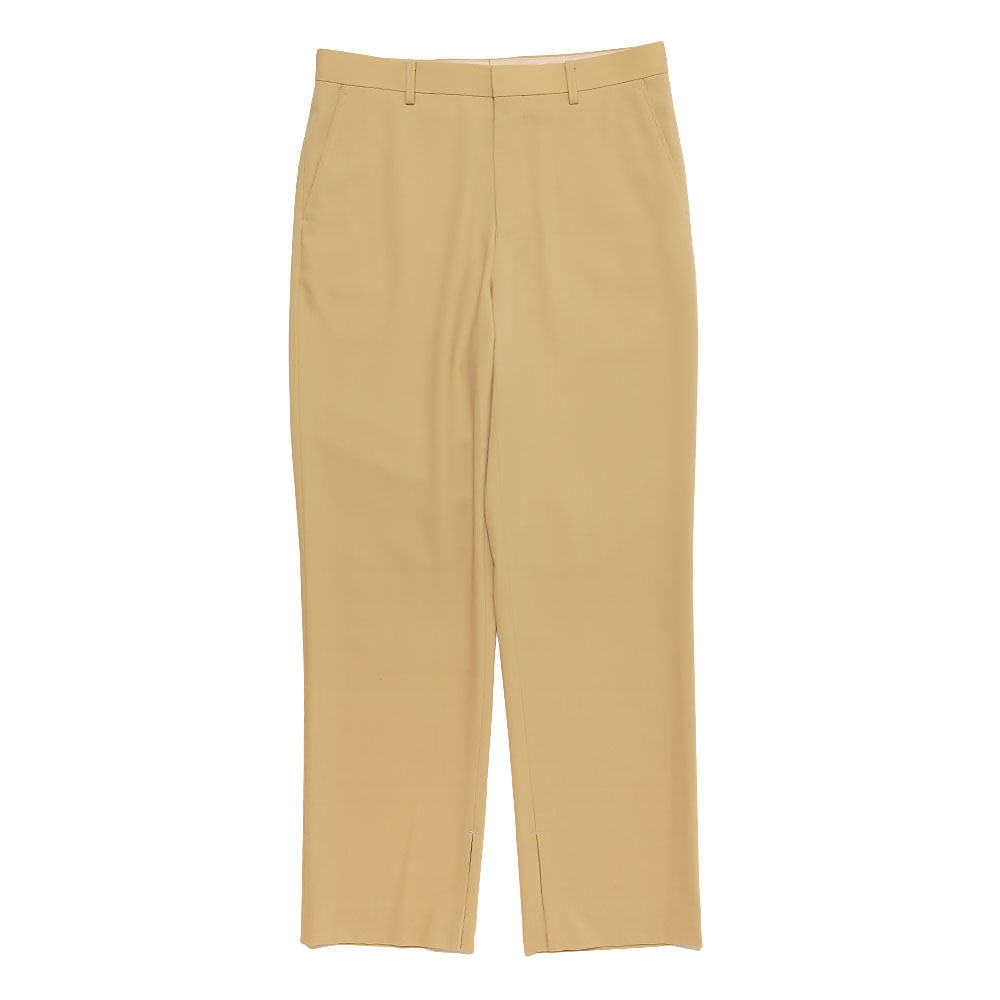 HARD TWIST WOOL DOBBY SLIT SLACKS A21SP03KW YELLOW BEIGE
