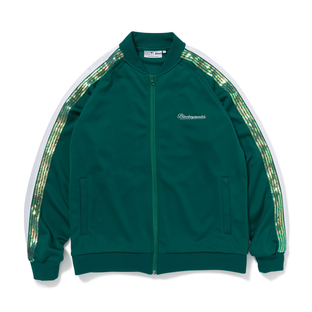 SPANGLE ZIP JERSEY GREEN
