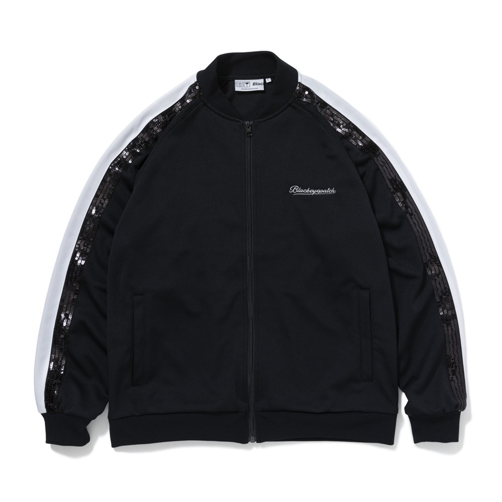 SPANGLE ZIP JERSEY BLACK