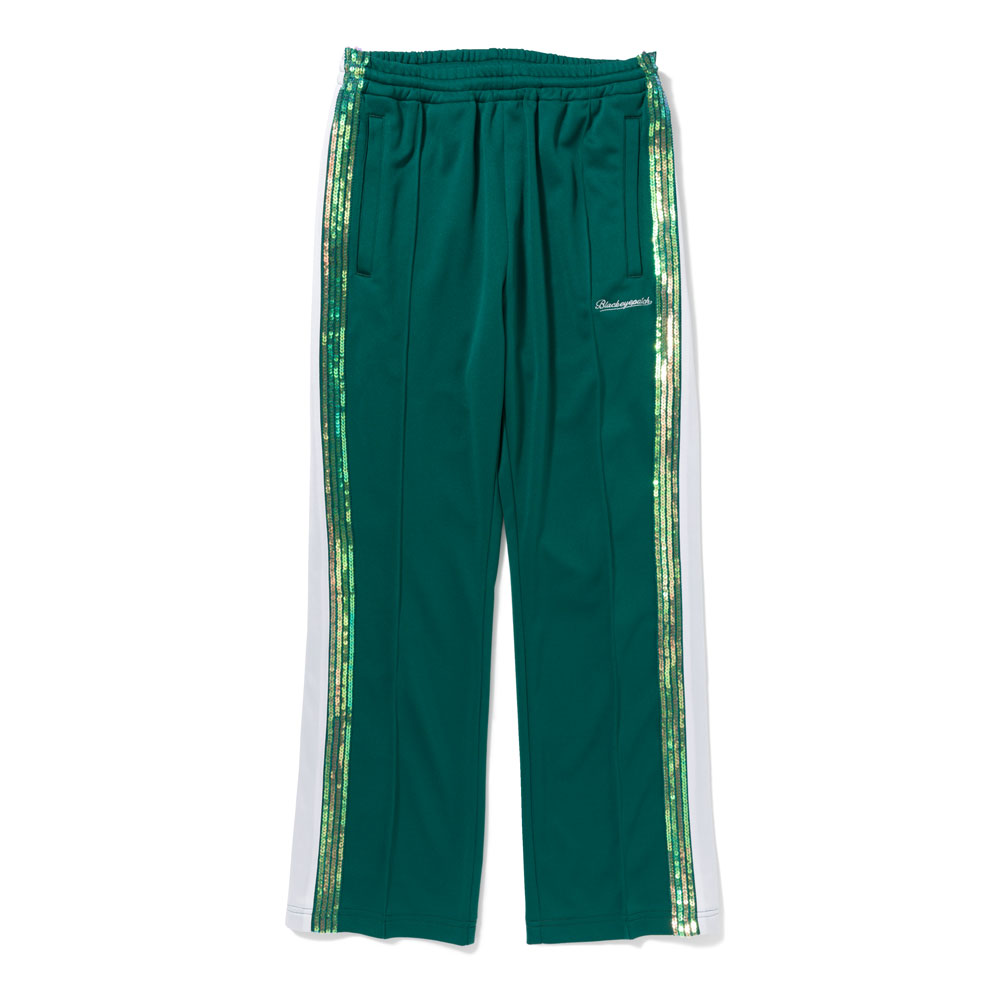 SPANGLE JERSEY PANTS GREEN