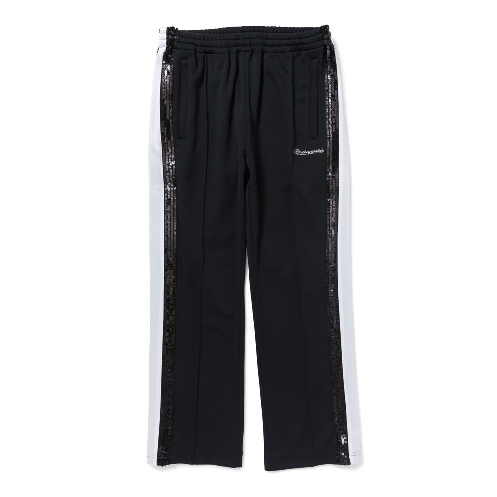 SPANGLE JERSEY PANTS BLACK