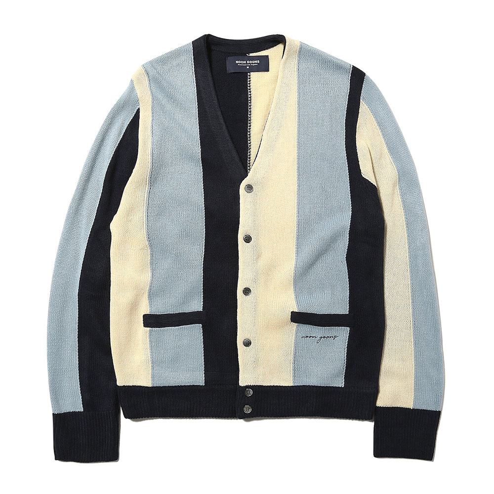THE DROOGS CARDIGAN NAVY/CREAM/LT.BLUE