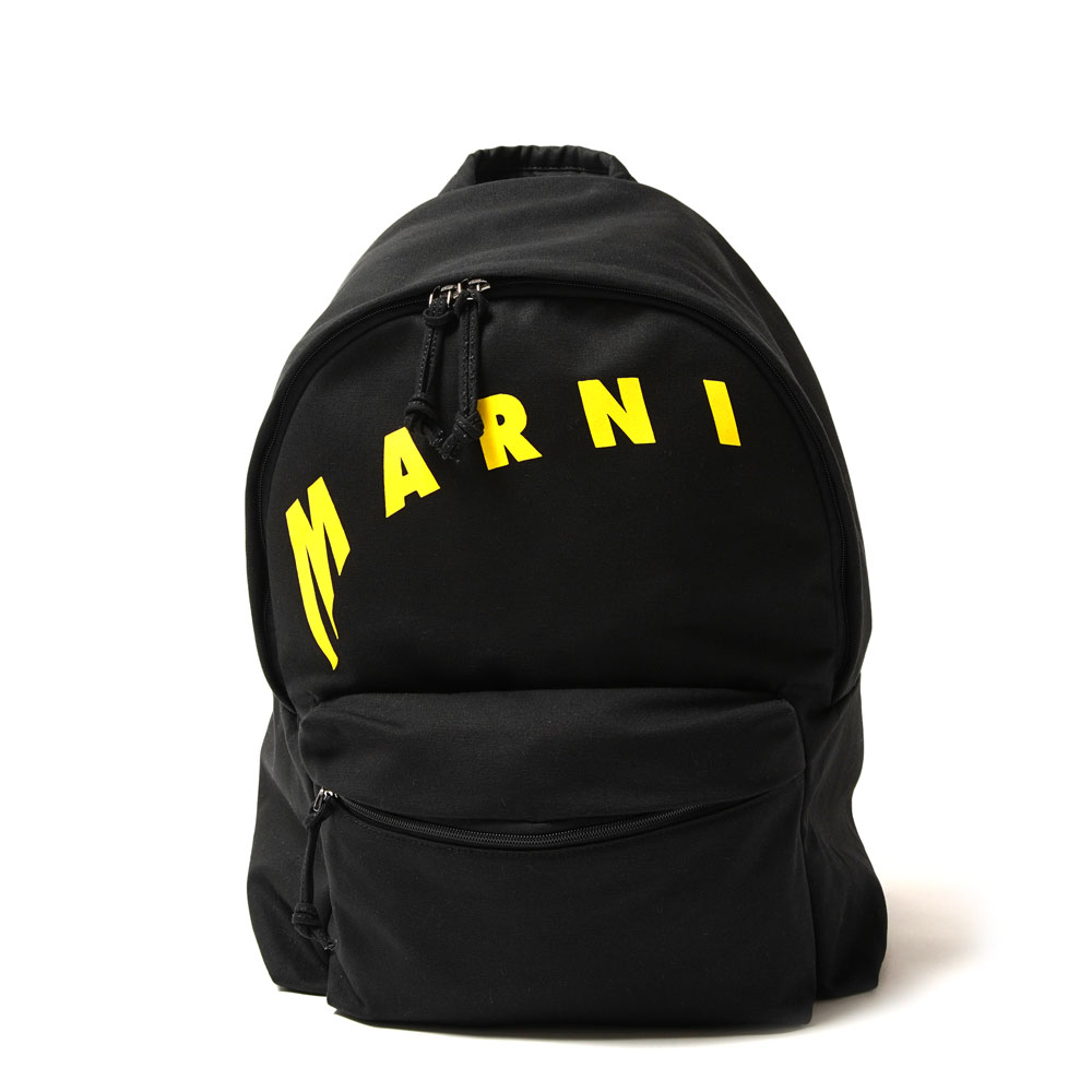 LARGE COTTON BACKPACK WITH MARNI LOGO BLACK
