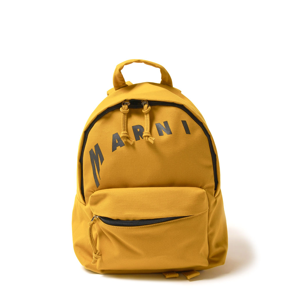 MEDIUM COTTON BACKPACK WITH MARNI LOGO MUSTARD