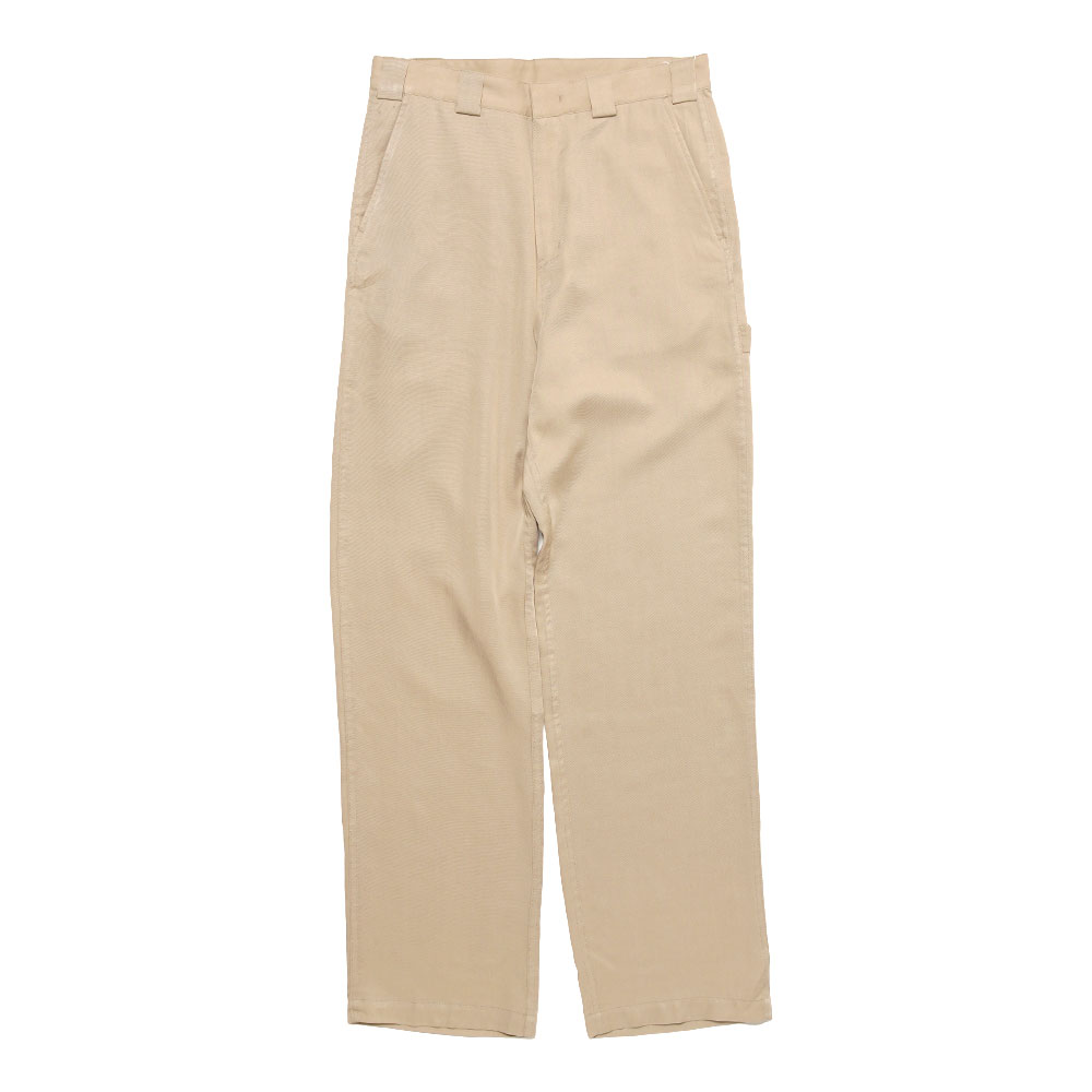 CHECKER LOGO WORK PANTS BEIGE