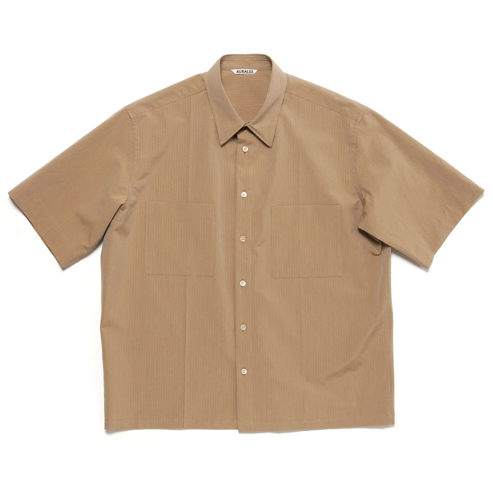WASHED FINX RIPSTOP CHAMBRAY HALF SLEEVED SHIRTS A21SS02FL BEIGE
