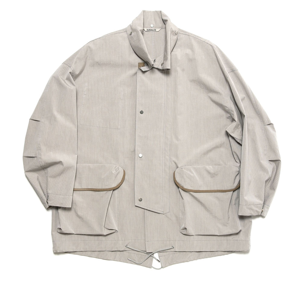 WASHED FINX RIPSTOP CHAMBRAY BIG FIELD BLOUSON A21SB01FL LIGHT GREY