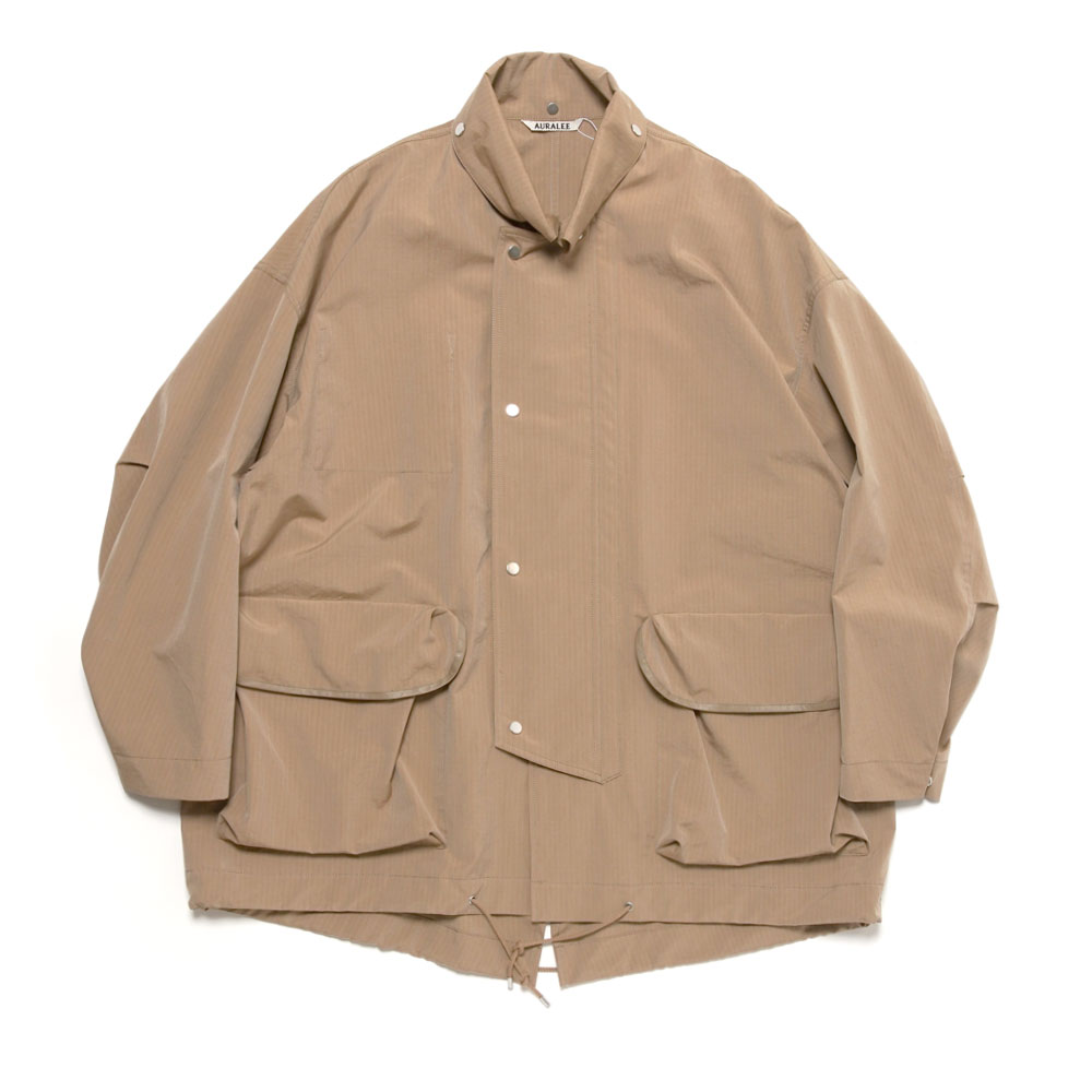 WASHED FINX RIPSTOP CHAMBRAY BIG FIELD BLOUSON A21SB01FL BEIGE