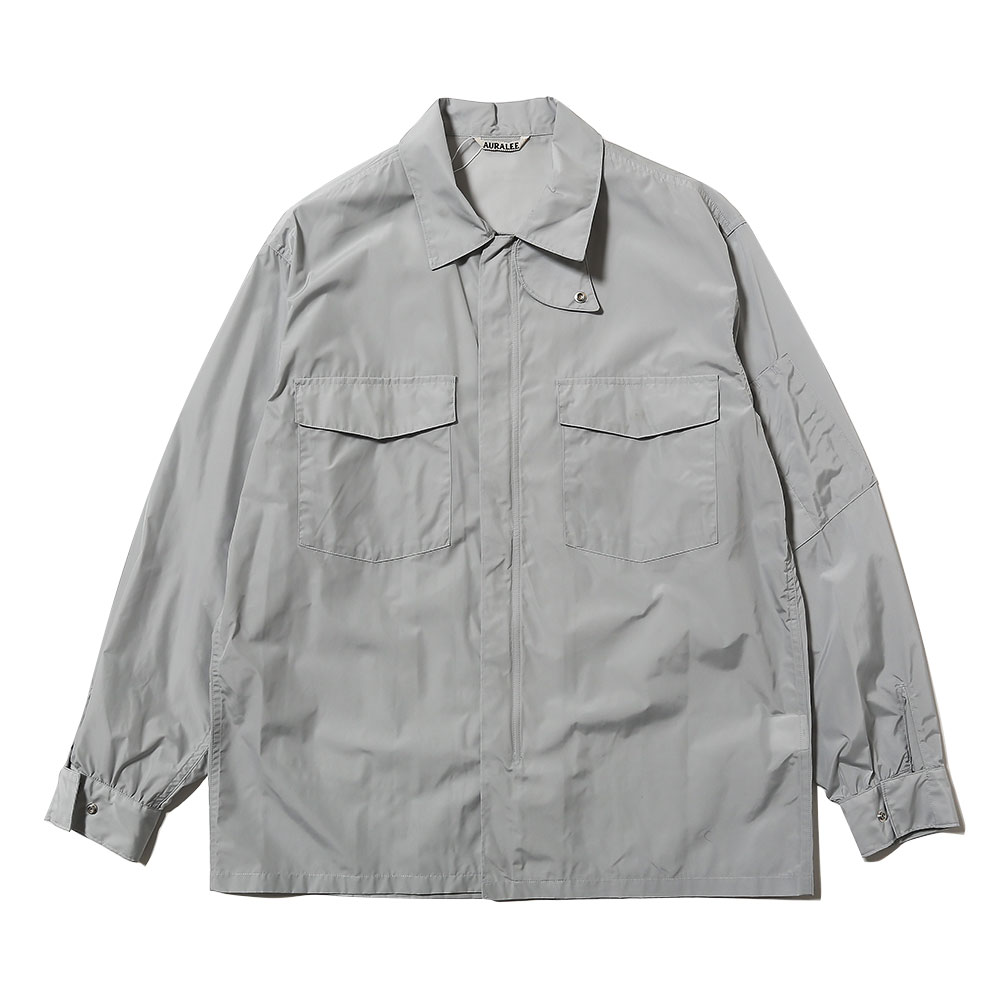 LIGHT NYLON ZIP SHIRTS LIGHT BLUE