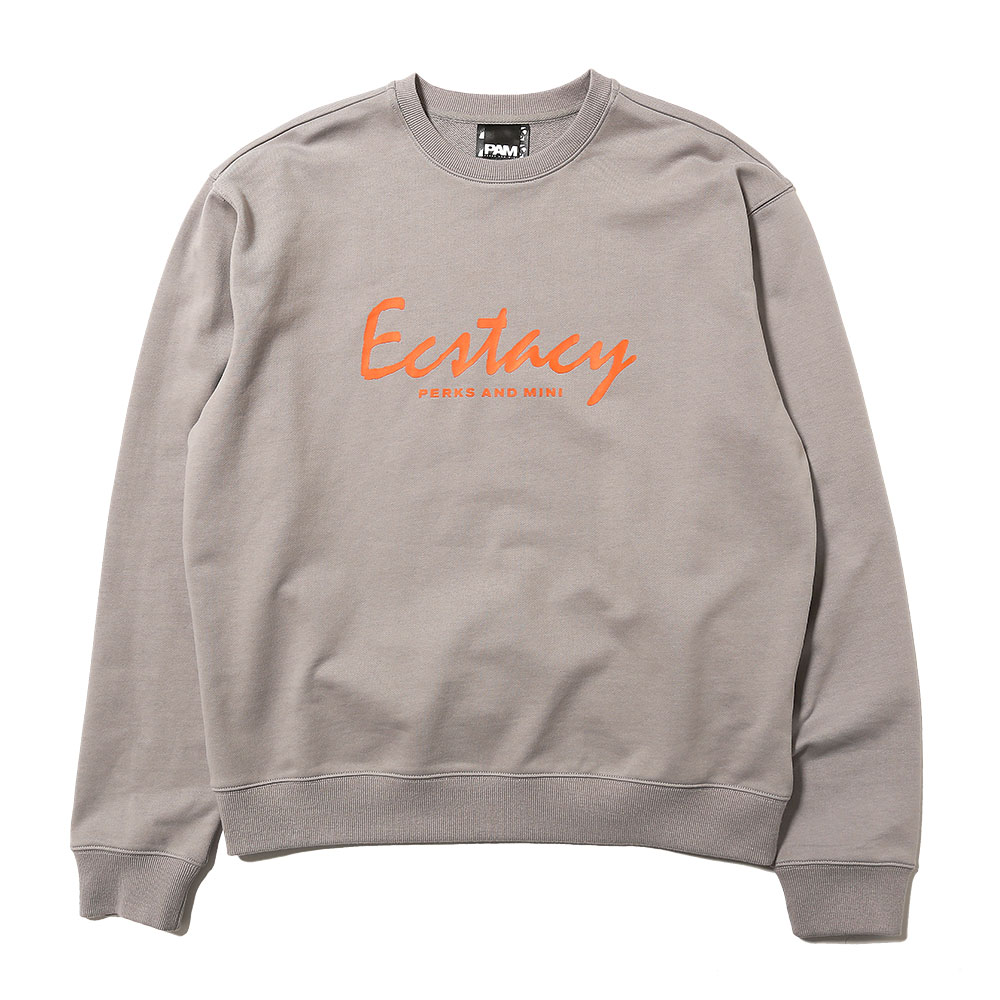ECSTACY CREW NECK SWEAT SLATE