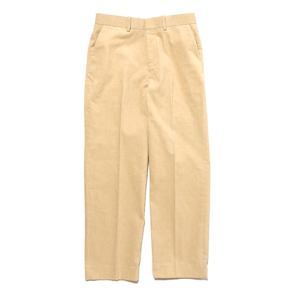 HEMP CORDUROY SLACKS YELLOW BEIGE