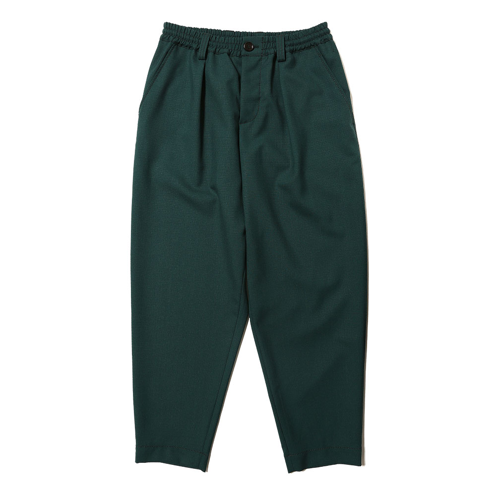 TROPICAL WOOL TAPERED SLACKS GREEN