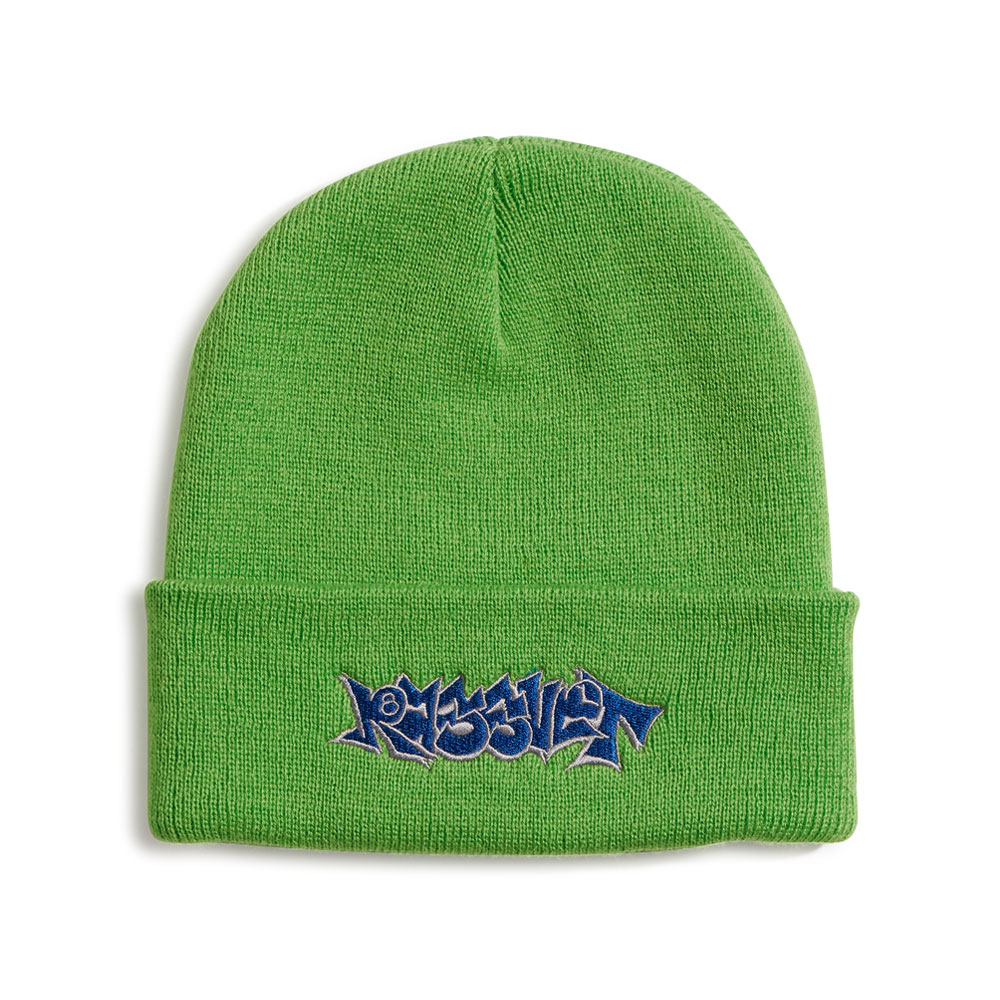 BEANIE WITH EMBROIDERY PACC8K003 BRIGHT GREEN