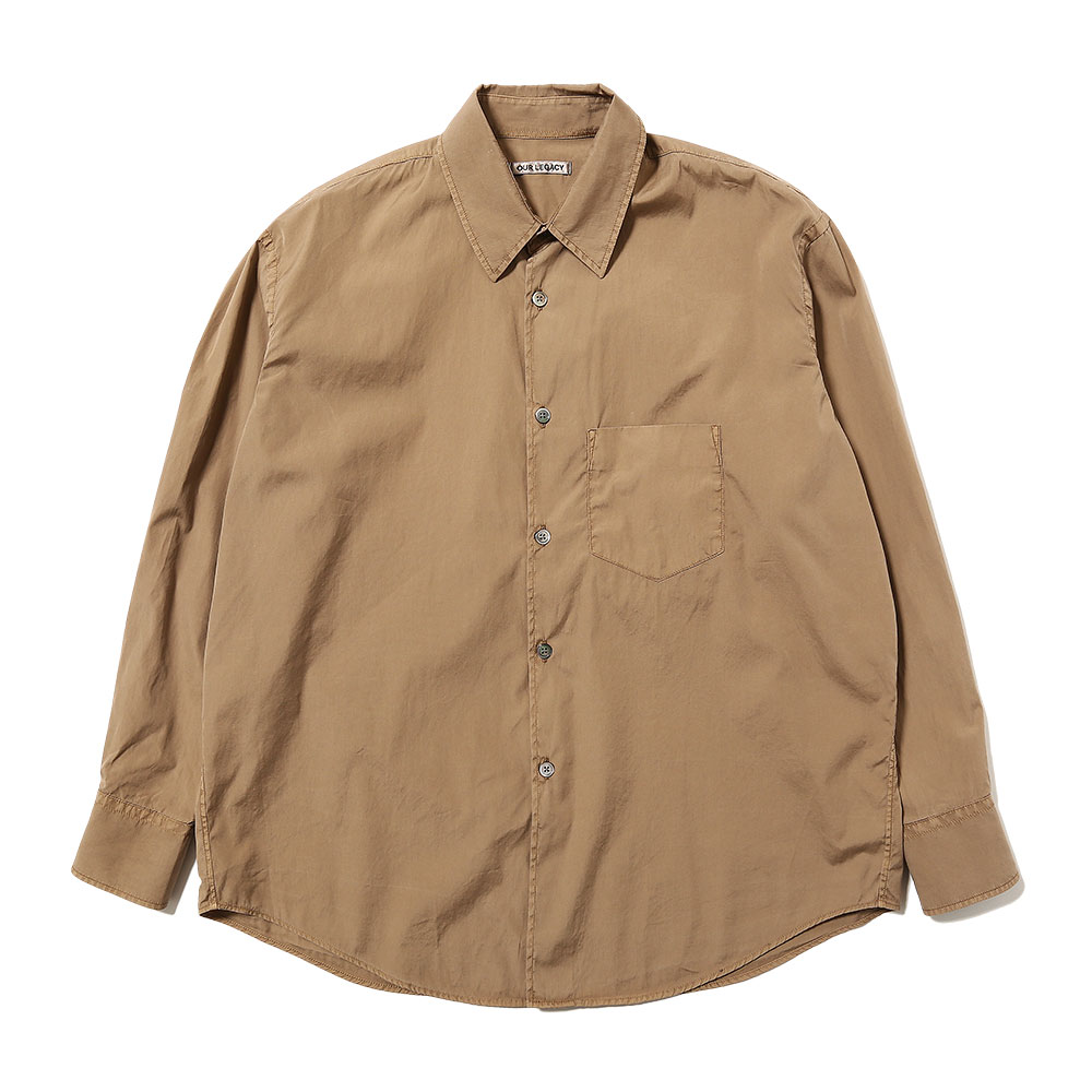 COCO 70's SHIRT STEELBROWN POPLIN