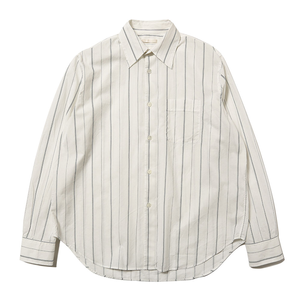 POLICY SHIRT PIN STRIPE PRINT VOILE