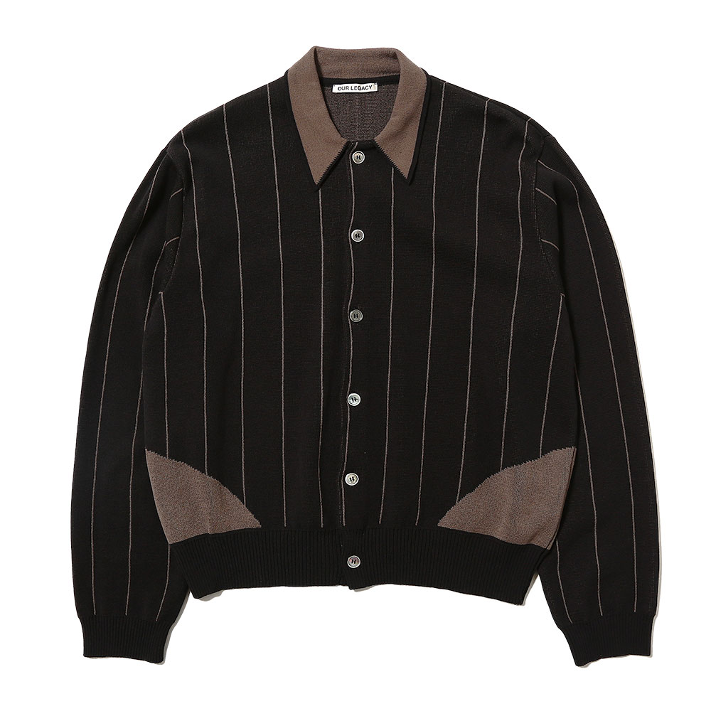 EVENING POLO BLACK STRIPE COTTON