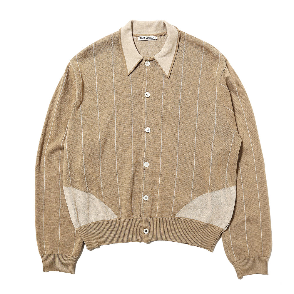 EVENING POLO BEIGE STRIPE COTTON