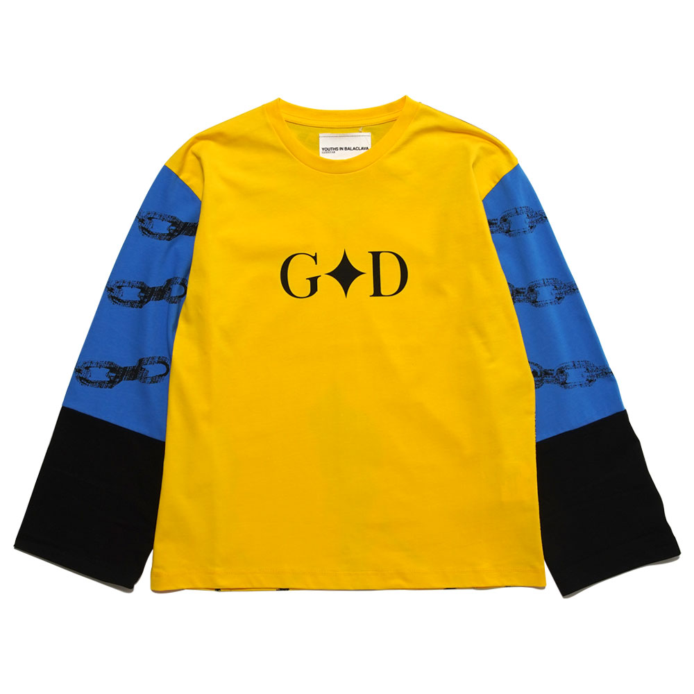 PRINTED T-SHIRT YOU03T008 YELLOW BLUE