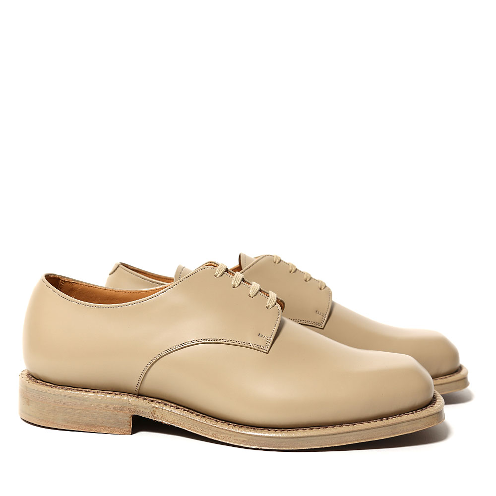 SQUARE TOE LEATHER SHOES MADE BY FOOT THE COACHER A20SS01FC BEIGE