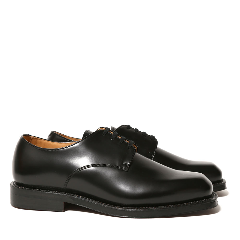 SQUARE TOE LEATHER SHOES MADE BY FOOT THE COACHER A20SS01FC BLACK