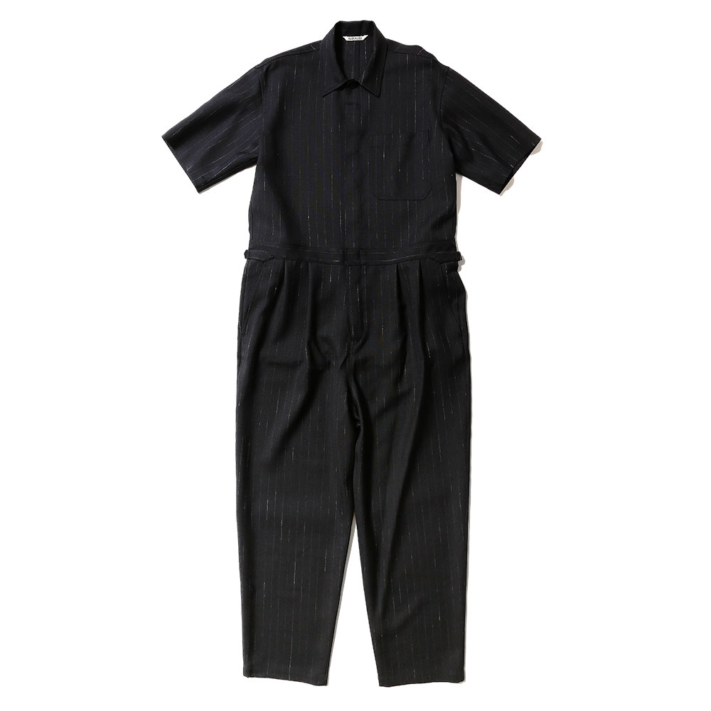 WOOL CUPRA LINEN CLOTH JUMPSUIT A20ST03CL NAVY STRIPE