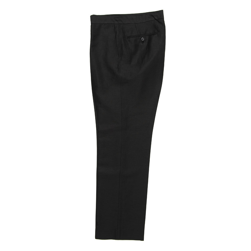 SILK LINEN DOBBY SLACKS A21SP02SD BLACK
