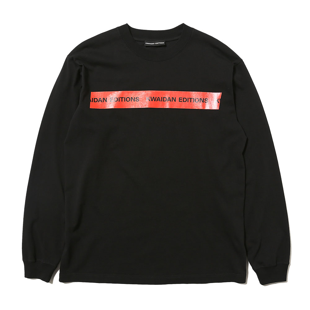 BRANDED KWAIDAN EDITIONS TAPE LONG SLEEVE T-SHIRT BLACK