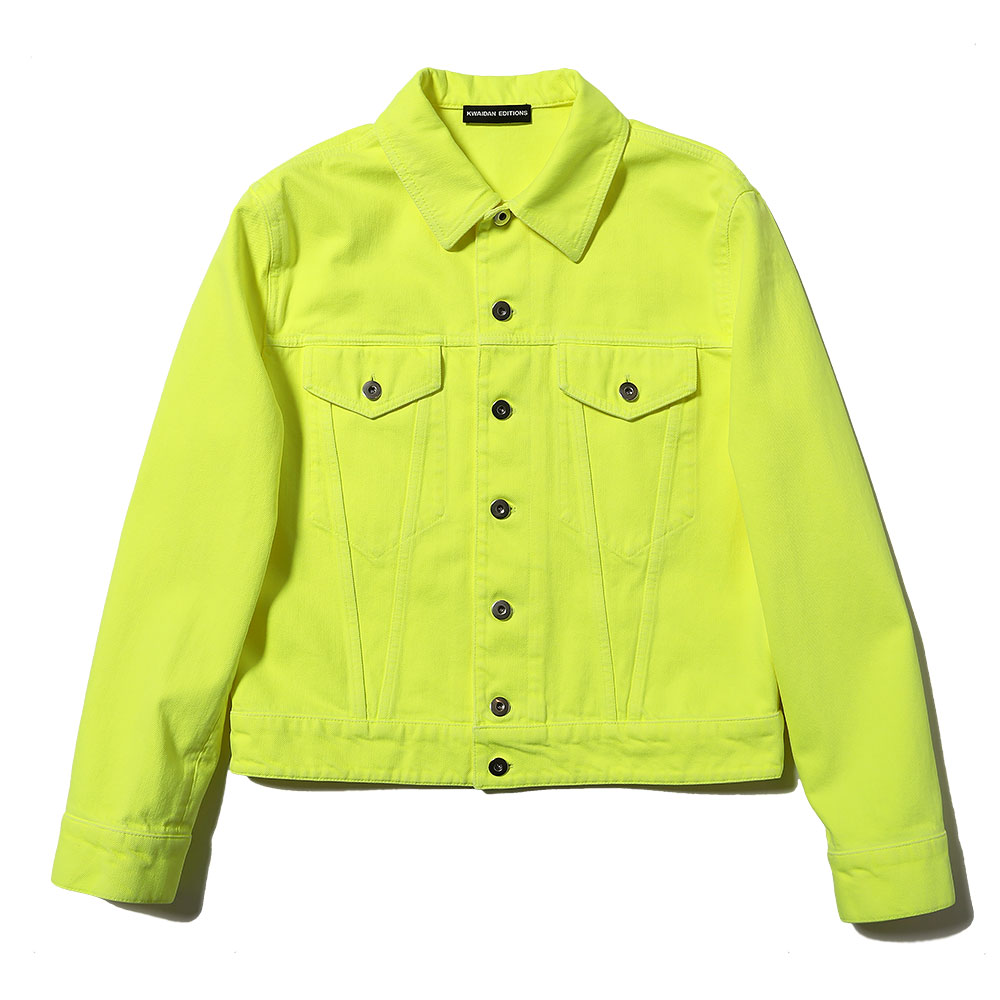 DENIM JACKET NEON YELLOW
