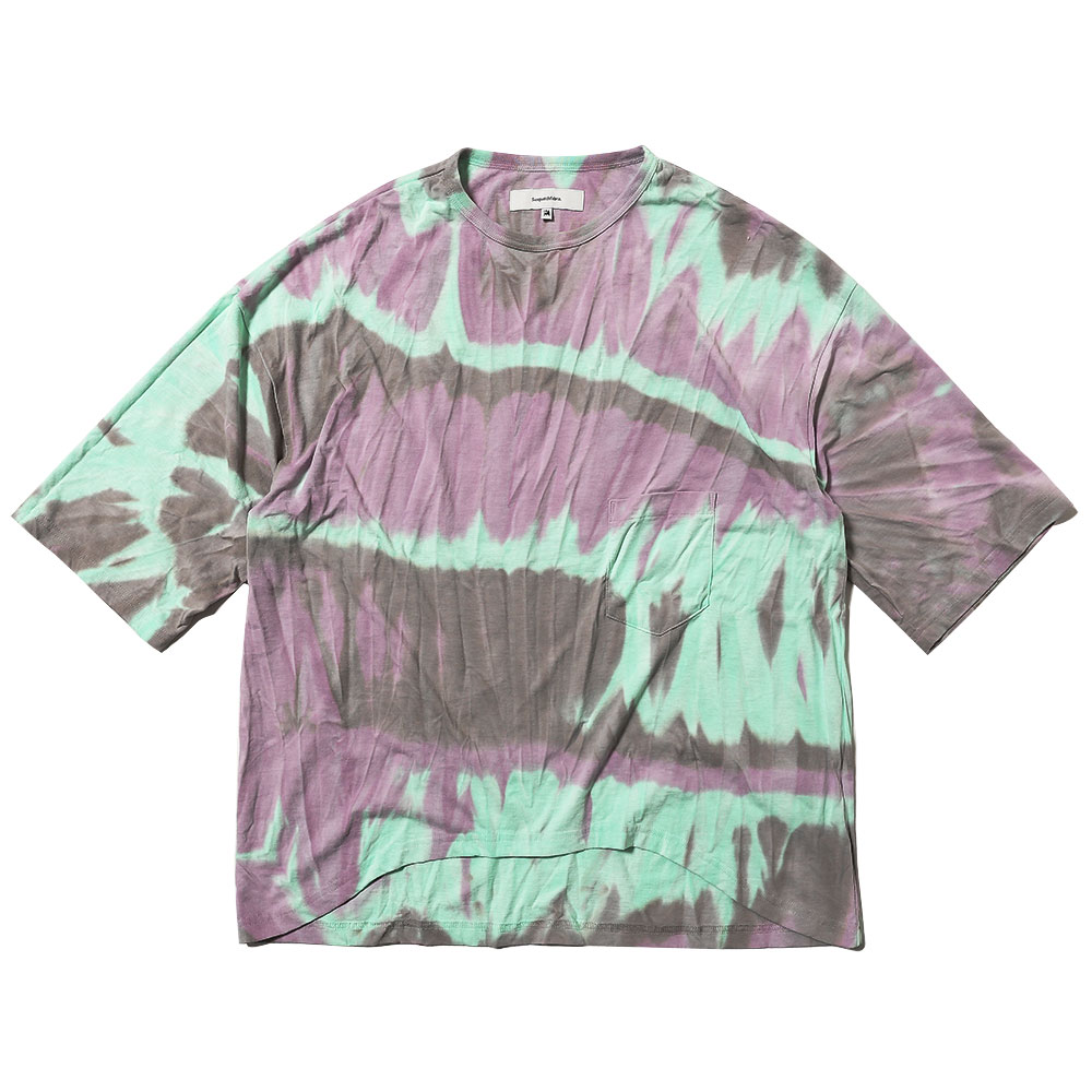 TIE DYE POCKET H/S TEE GRAY GREEN