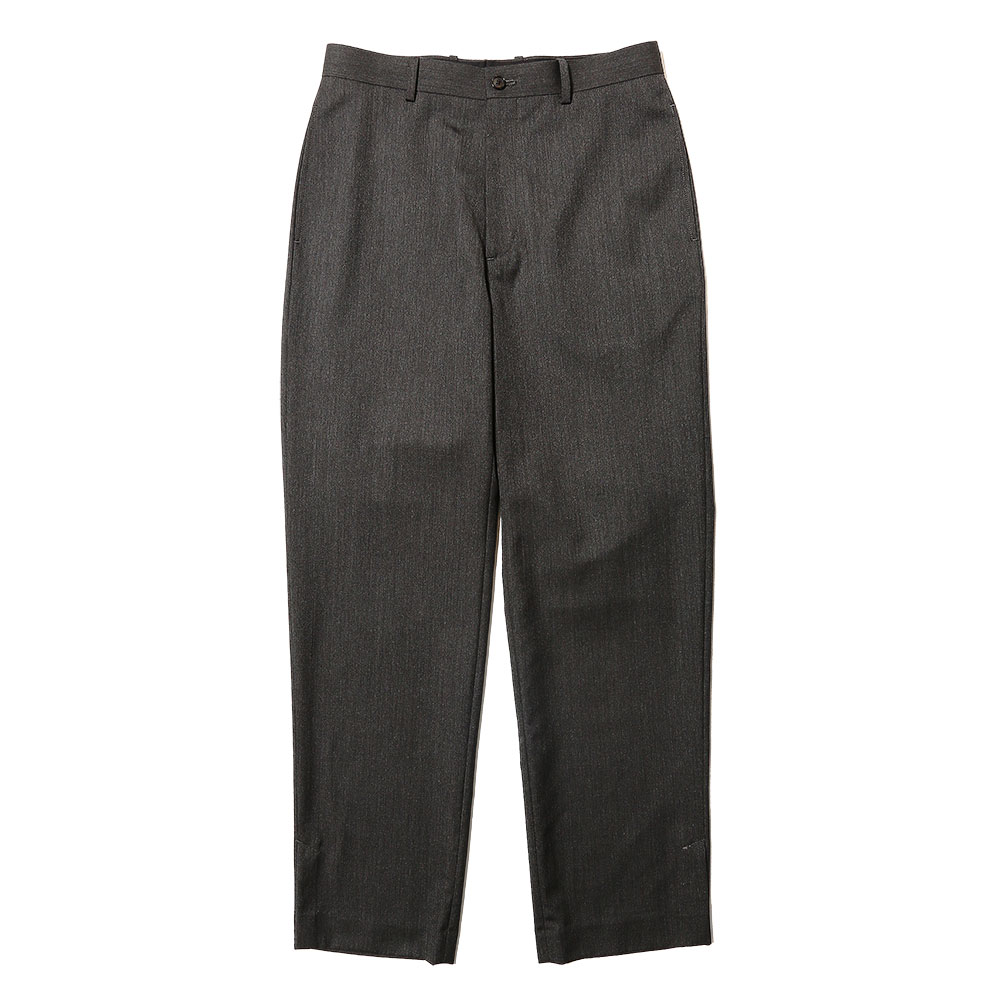 WOOL SILK TROPICAL SLACKS CHARCOAL BLACK