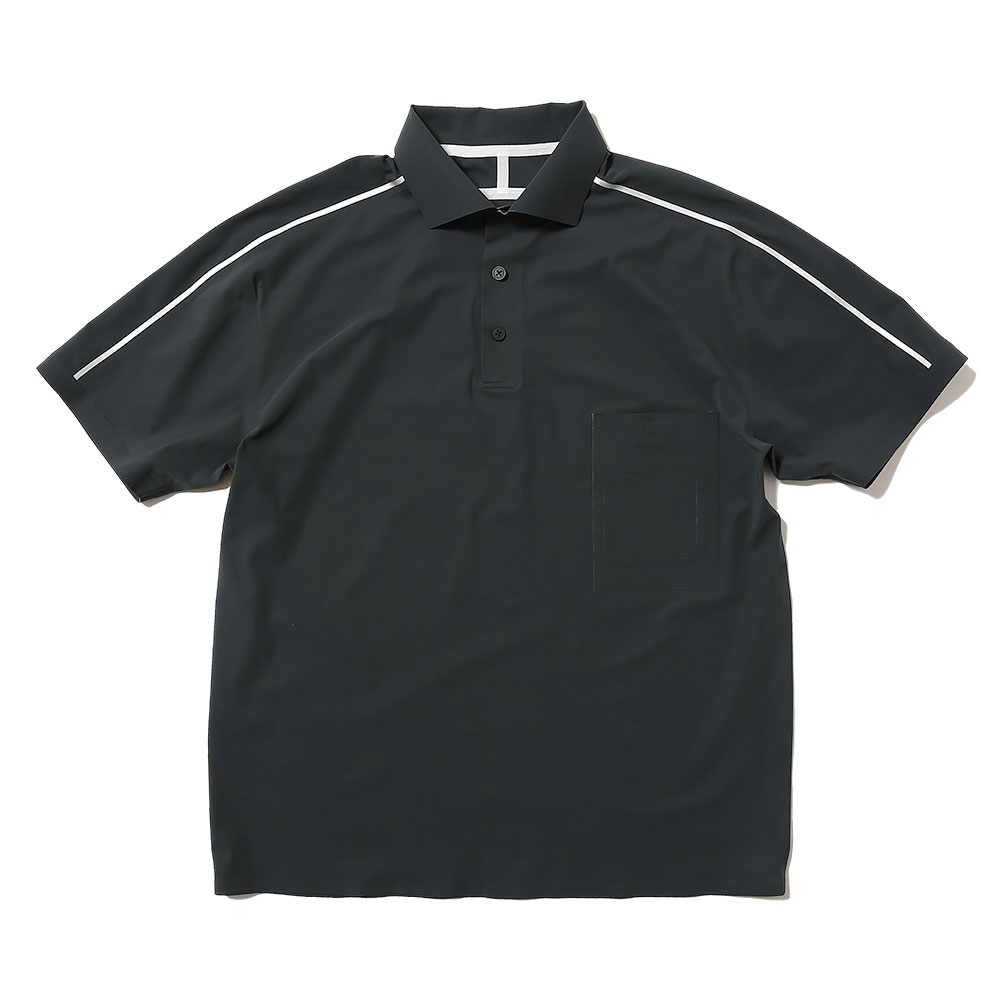 ULTRASOUND TAPED S/S POLO SHIRT GREY