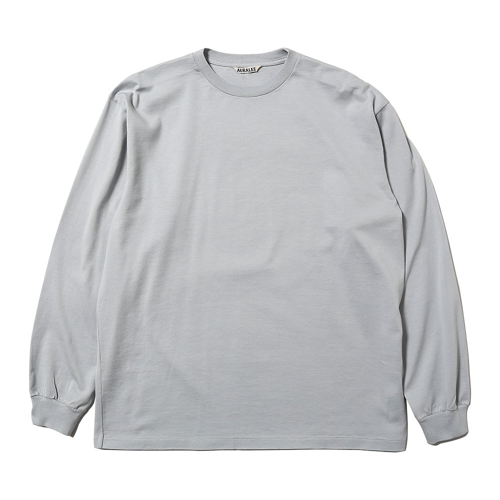 LUSTER PLAITING L/S TEE LIGHT BLUE