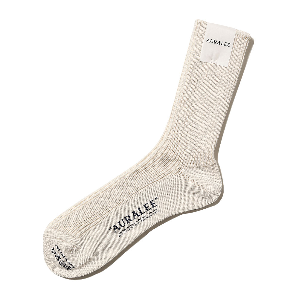 COTTON CASHMERE LOW GAUGE SOX IVORY