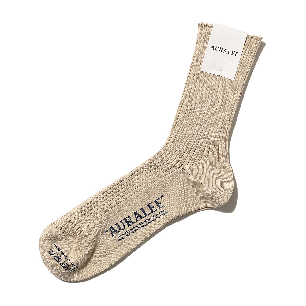 GIZA HIGH GAUGE SOX BEIGE