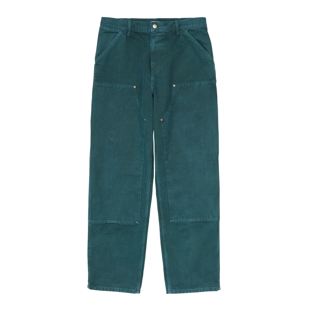DOUBLE KNEE PANT DEEP LAGOON WORN CANVAS