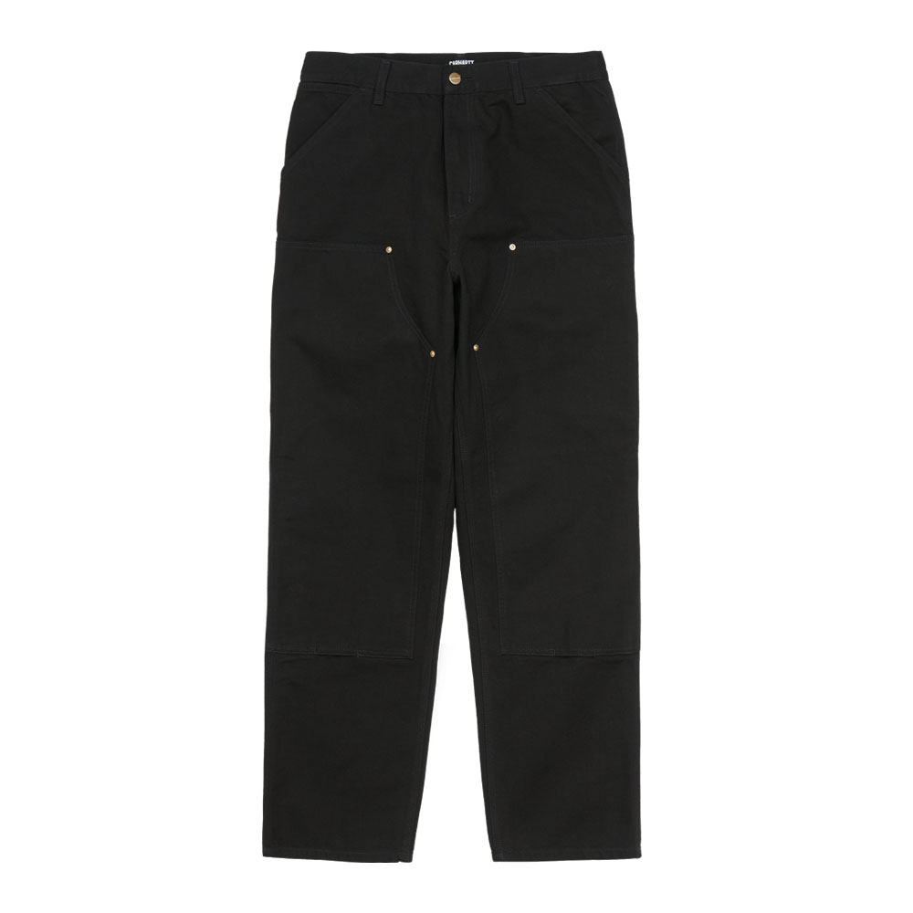 DOUBLE KNEE PANT BLACK WORN CANVAS