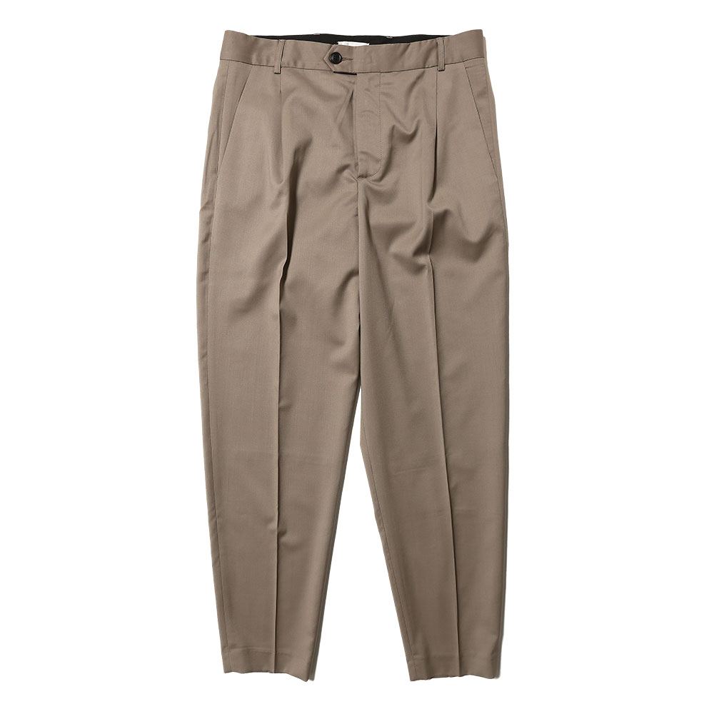 TAPERED LEG TROUSERS TAUPE