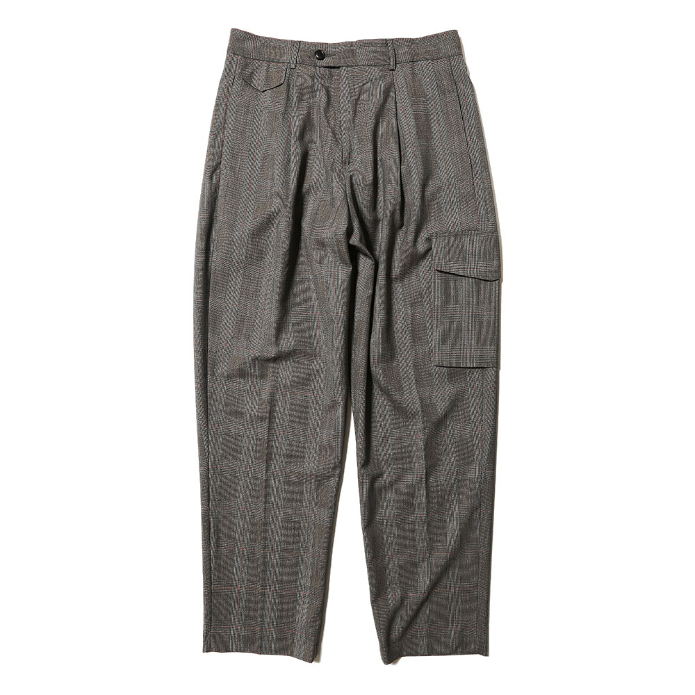 RELAXED TROUSERS GREY CHECK