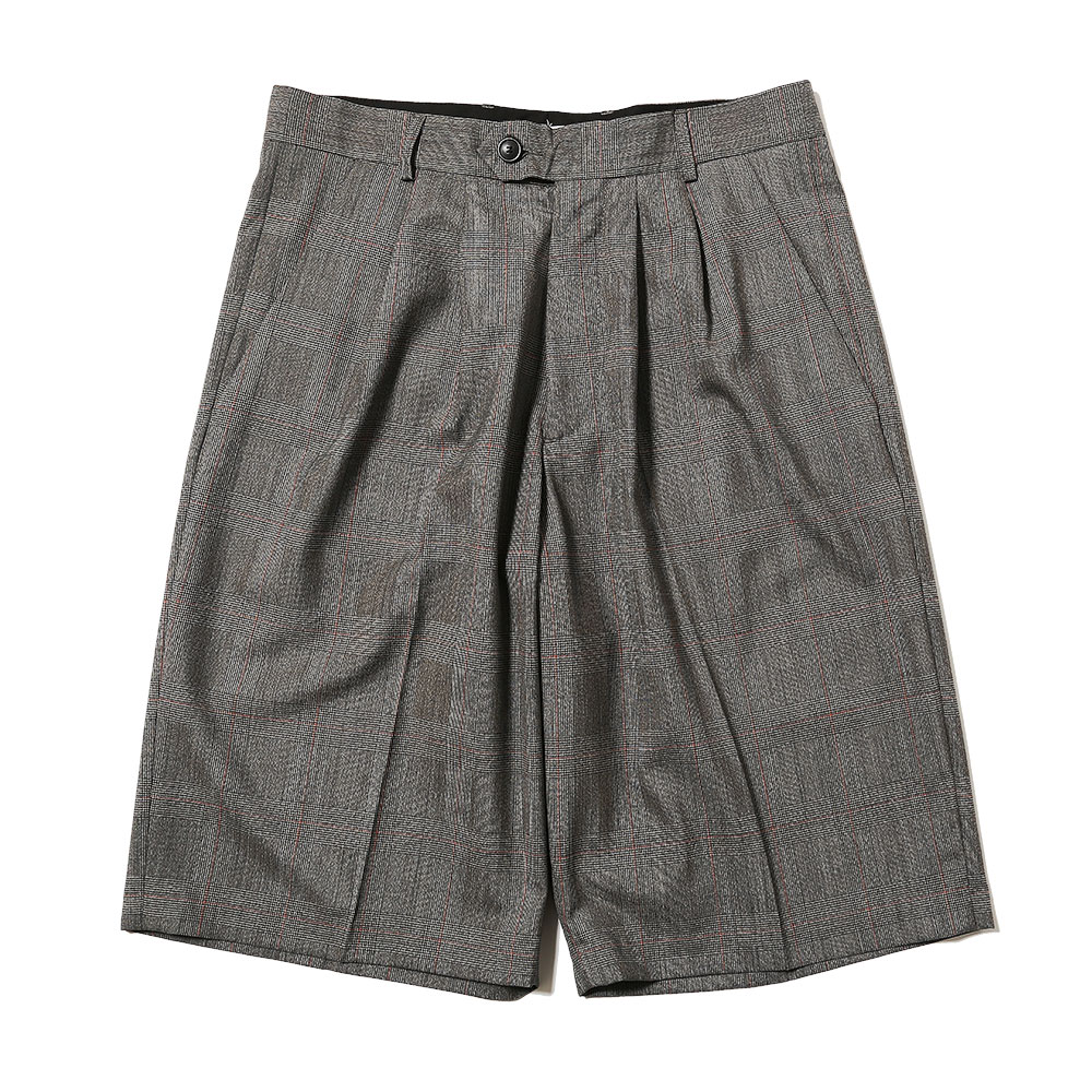 WIDE SHORT GREY CHECK