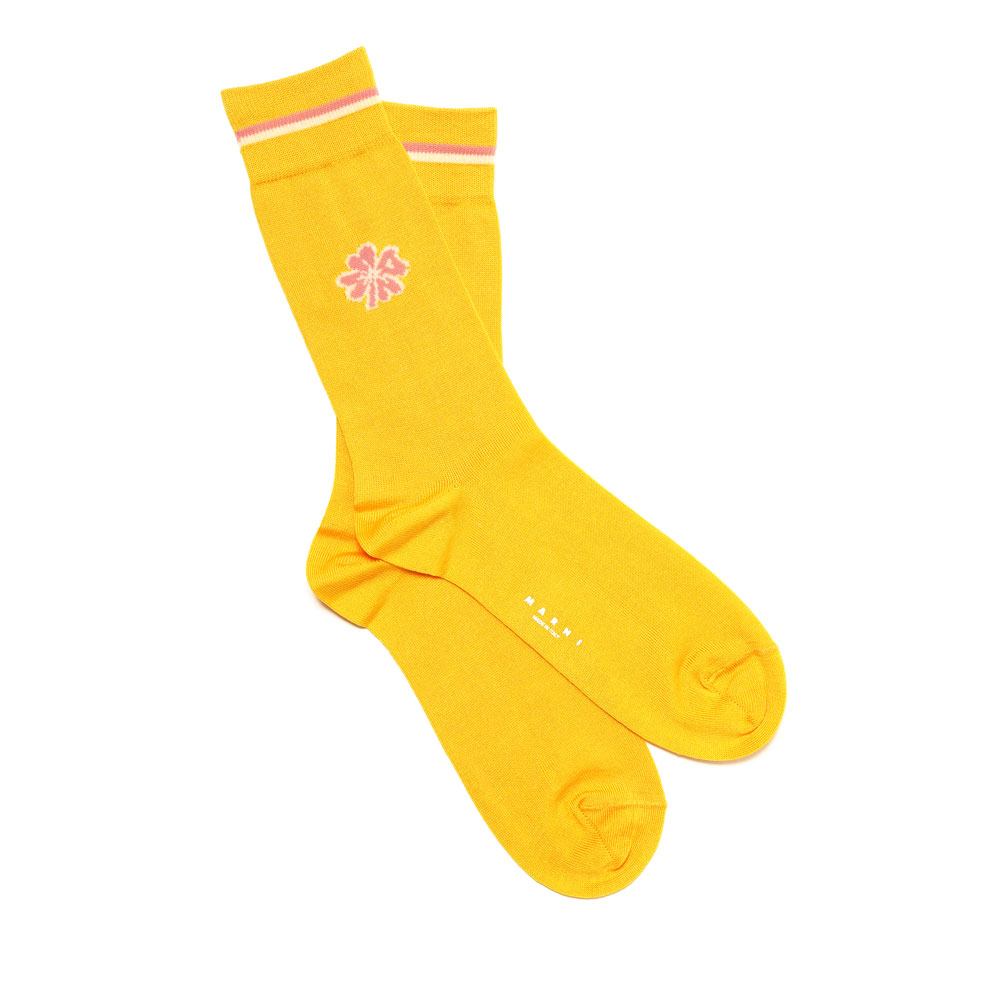 POINT FLOWER SOX YELLOW