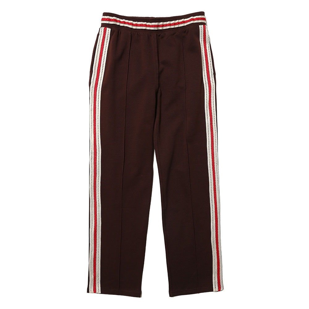 PALMS CROCHET STRIPE TRACKPANTS DARK BROWN